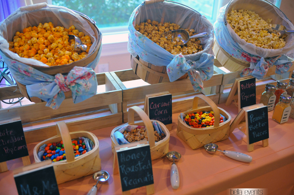 popcorn station for your wedding reception. Black Bedroom Furniture Sets. Home Design Ideas