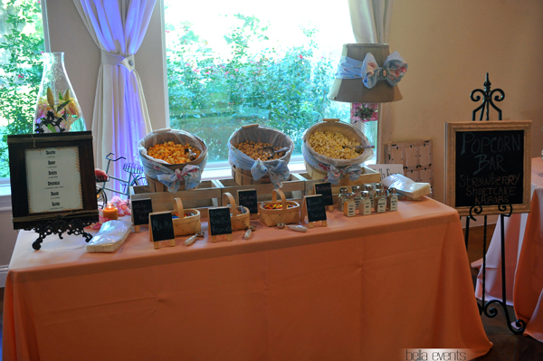 Popcorn Bar For Wedding Reception