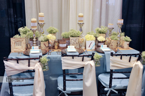 Rustic Guest Table Centerpiece