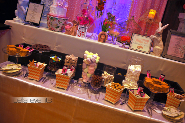 smores bar - wedding service - 1098