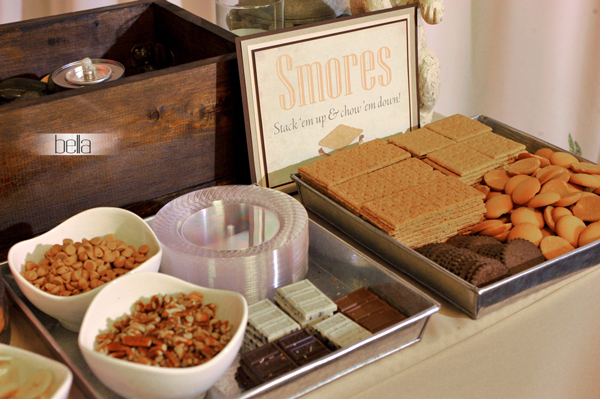 smores bar - wedding service - 1109