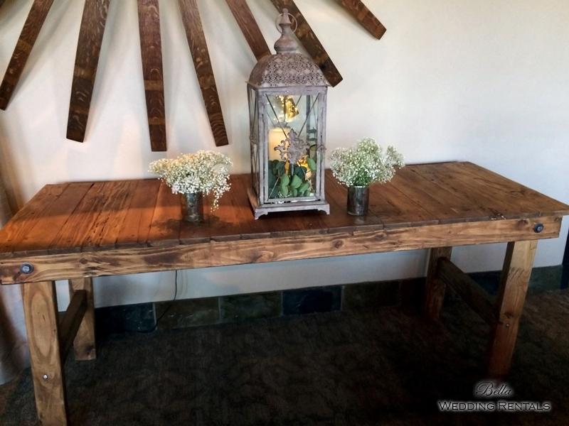 Farmhouse Table - wedding day rental -7623