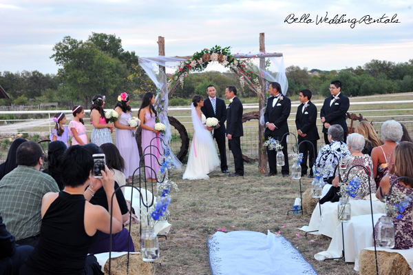 backyard ceremony area
