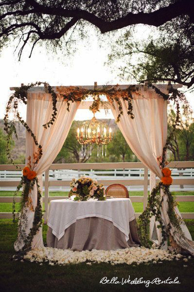 Wedding altar design resource wedding ceremony altars - Como decorar una boda sencilla en casa ...