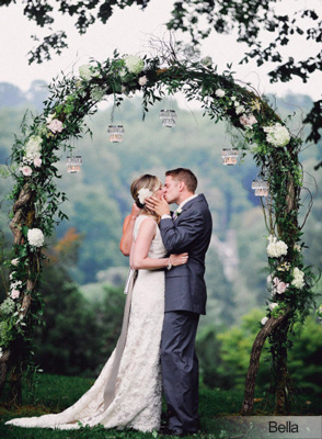 twig garden wedding arch