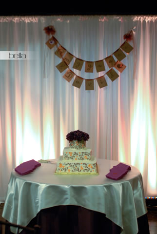 wedding cake table - wedding day - 2015