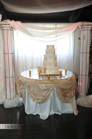 wedding cake table - wedding day - 2018
