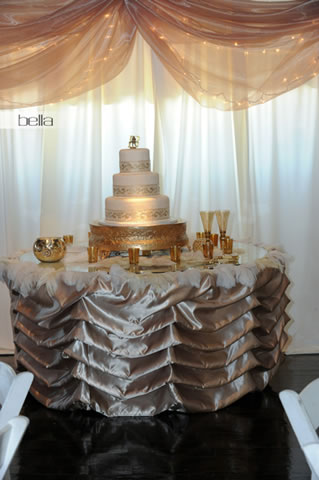 wedding cake table - wedding day - 2020
