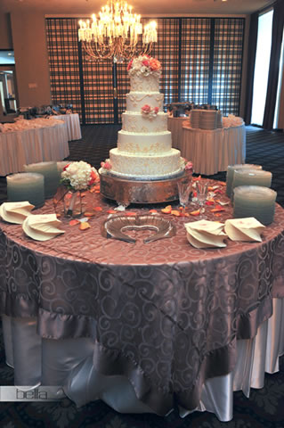 wedding cake table - wedding day - 2021
