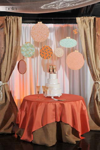 wedding cake table - wedding day - 2042