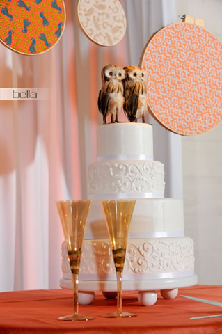 wedding cake table - wedding day - 2043