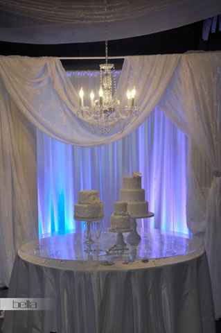 wedding cake table - wedding day - 2045