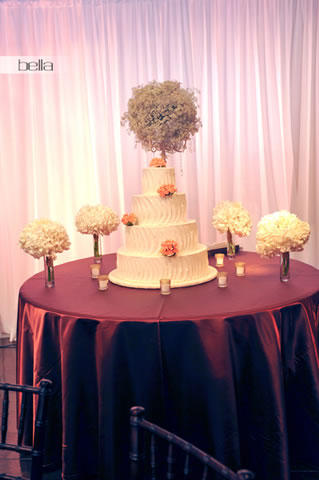 wedding cake table - wedding day - 2058
