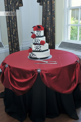 wedding cake table - wedding day - 2065