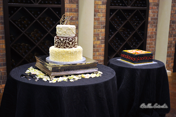 wedding cake table - wedding day - 2076