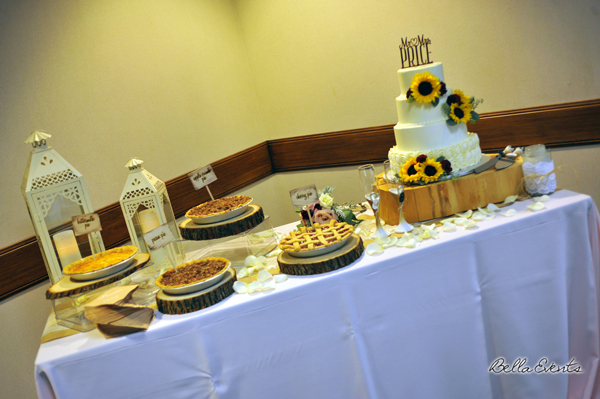wedding cake table - wedding day - 2081
