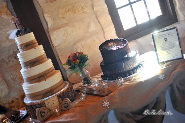 wedding cake table - wedding day - 2087
