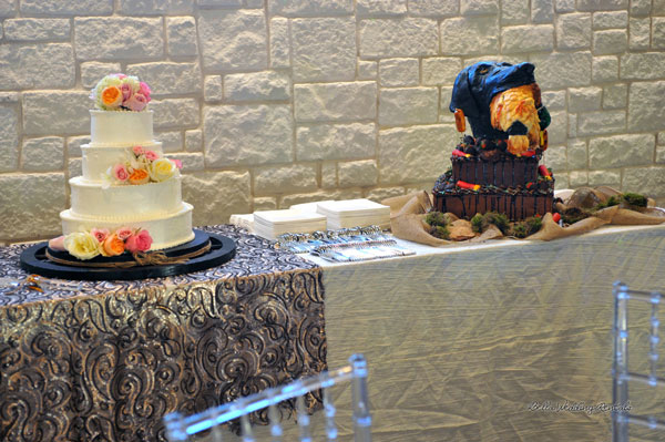 wedding cake table - wedding day - 2088