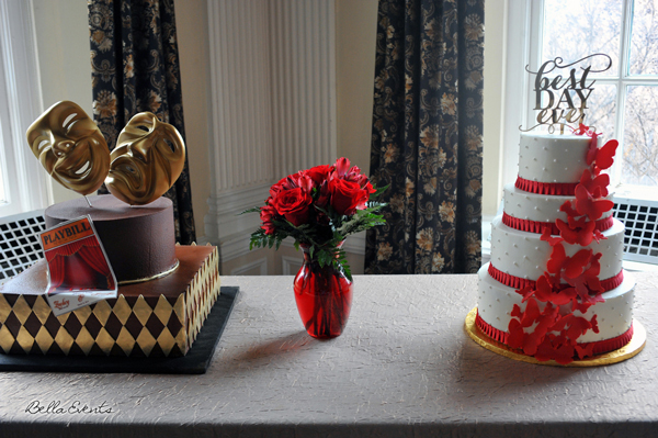 wedding cake table - wedding day - 2114