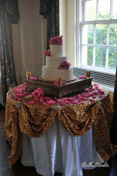 wedding cake table - wedding day - 2117