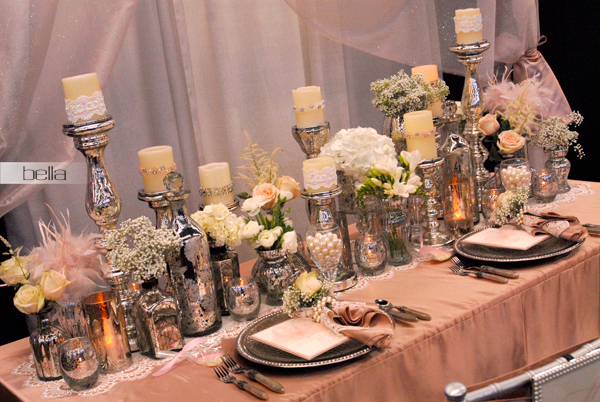 Romantic Outdoor Sweetheart Table | Head table wedding ...  |Outdoor Wedding Reception Head Table