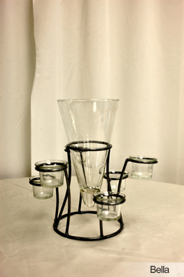 Centerpiece Design Resource - Wedding Glassware - Centerpieces