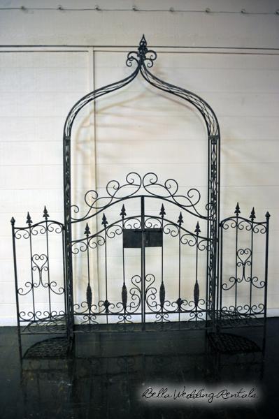 Wrought Iron Wedding Arch Al Installation