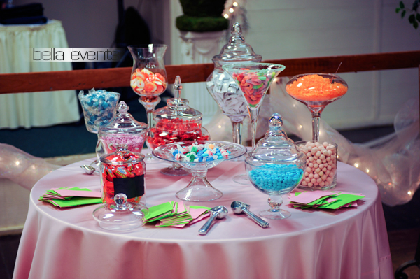 Candy bar candy station wedding reception candy bar for Candy bar for weddings receptions